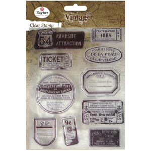 Vintage: Travel - Clear Stamps