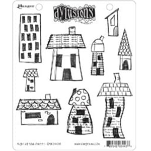 Dylusions: Cling Rubberstamp set - Right up your Street
