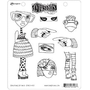 Dylusions: Cling Rubberstamp set - Pondering Petunia