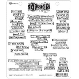 Dylusions: Cling Rubberstamp set - Quintessential Quotes