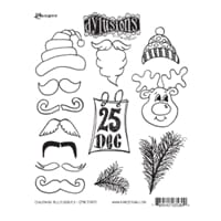 Dylusions: Christmas Accessories - Cling Rubberstamp set
