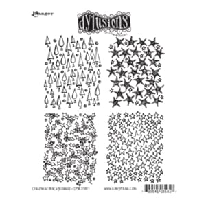 Dylusions: Christmas Backgrounds - Cling Rubberstamp set