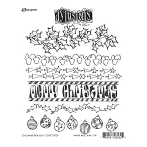 Dylusions: Christmas Borders - Cling Rubberstamp set