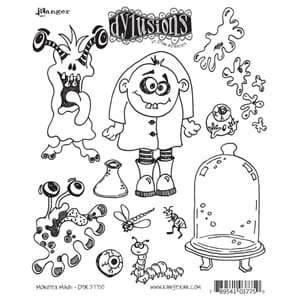Dylusions: Cling Rubberstamp set - Monster Mash