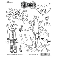 Dylusions: Cling Rubberstamp set - Michievous Malcom
