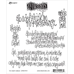 Dylusions: Cling Rubberstamp set - The Write Words