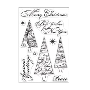 Hero Arts: Merry Christmas Trees - Clear Stamps