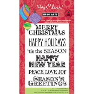 Hero Arts: Greetings For The Holiday - Clear Stamps