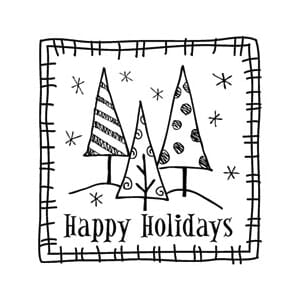Inkadinkado: Clear Mini Stamps - Happy Holidays
