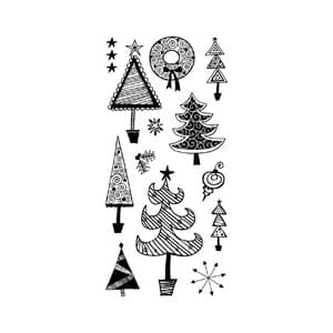 Inkadinkado: Clear Stamps - Festive Holiday Doodles