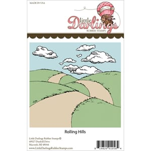 Little Darlings: Rolling Hills - Unmounted Rubber Stamp