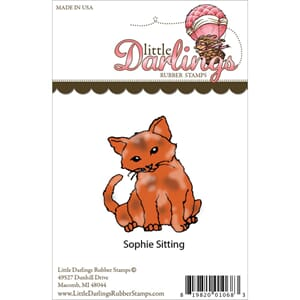 Little Darlings: Sophie Sitting - Unmounted Rubber Stamp