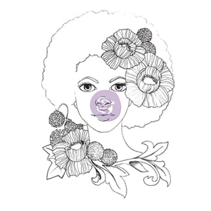 Prima: Girl Joy - Bloom Cling Rubber Stamps