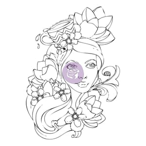 Prima: Girl Paige - Bloom Cling Rubber Stamps
