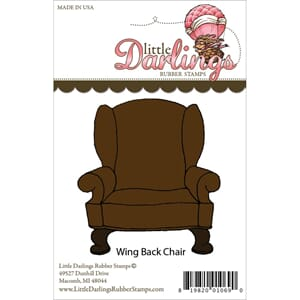 Little Darlings: Wing Back Chair - Unmounted Rubber Stamp
