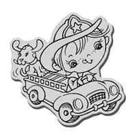 Stampendous: Fireman Kiddo - Cling Rubber Stamp