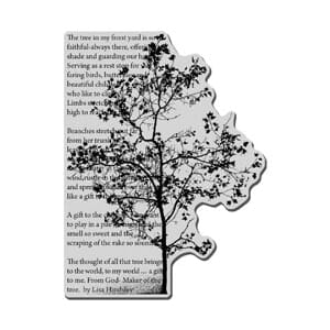 Stampendous: Tree Poem - Cling Rubber Stamp