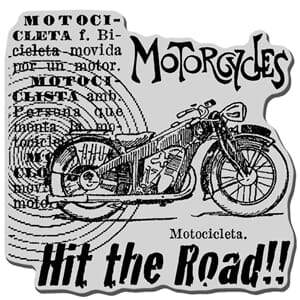 Stampendous: Motorcycle Elements - Cling Rubber Stamp