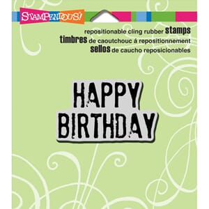 Stampendous: Grunge Birthday - Cling Rubber Stamp