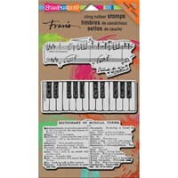 Stampendous: Musical Motif - Fran's Cling Rubber Stamp