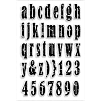Stampendous: Vintage Lowercase - Perfectly Clear Stamps