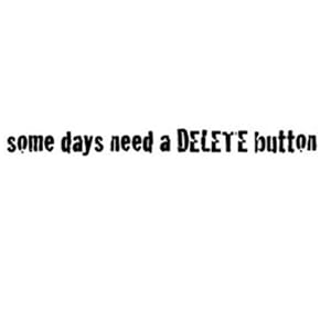 Studio 490: Delete - Wood Mounted Red Rubber Stamp