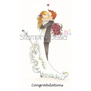 Stamping Bella: Brett and Brenda Get Married - Cling Stamp