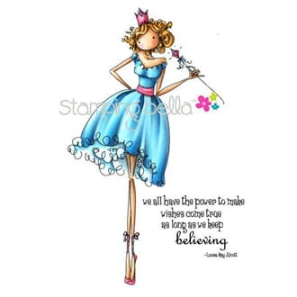 Stamping Bella: Uptown Girl Faith The Fairy - Cling Stamp