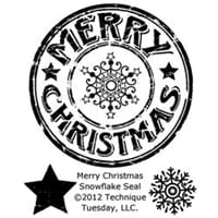 Techn. Tuesday: Merry Christmas Snowflake Seal - ClearStamps