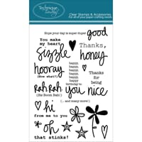 Technique Tuesday: Rah Rah Sentiments - Clear Stamps