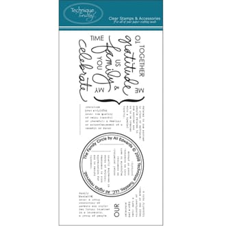 Technique Tuesday: Clear Stamps - Family Circle