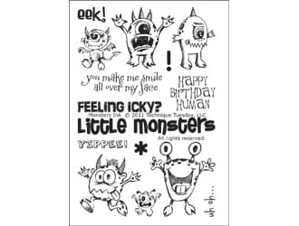 Technique Tuesday: Clear Stamps - Monsters Ink
