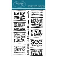 Technique Tuesday: Away We Go - Clear Stamps