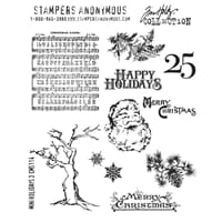Tim Holtz: Mini Holidays 3 - Large Cling Rubberstamp set