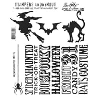 Tim Holtz: Halloween Silhouettes - Cling Rubberstamp set