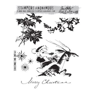 Tim Holz: Christmas Time - Large Cling Rubber Stamp Set