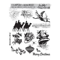 Tim Holz: Mini Holidays No 4 - Large Cling Rubber Stamp Set