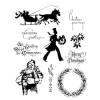 Tim Holz: Mini Holidays No 5- Large Cling Rubber Stamp Set
