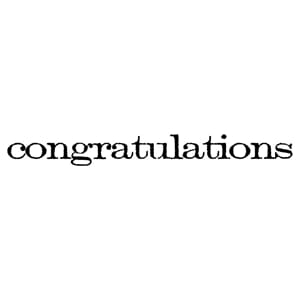 Tim Holtz: Congratulations - Mounted Rubber Stamp