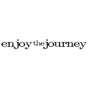 Tim Holtz: Enjoy The Journey - Mounted Rubber Stamp