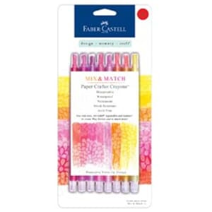 Faber-Castell: Red/Yellow - Paper Crafter Crayons 8/Pkg