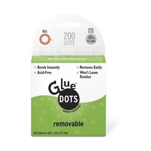 Glue Dots - Removable Dot, 1/2inch på rull