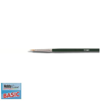 HOBBY LINE Basic - Spisspensel nr 0, nylon