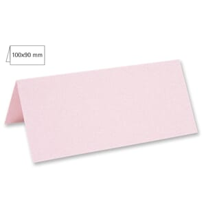 Doble bordkort 45x100 mm - Baby Pink, 5 stk