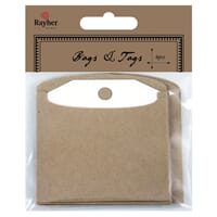 Vintage tager: Tags with Bags - 6 stk