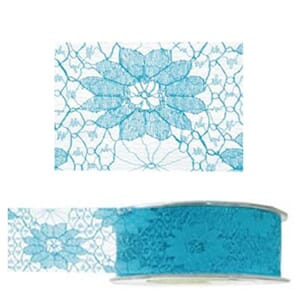 May Arts: Turquoise Lace Ribbon