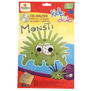 Kids Club: Monsti - CD holder i tre 23x6x17cm. Fra 8år