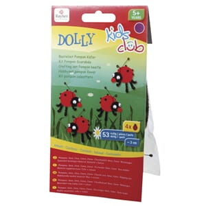 Kids Club: Sett Beetle Dolly - Chenille marihøner, 3 cm.