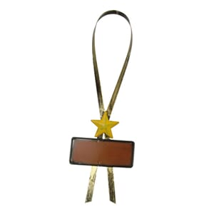 Metal bottle tag: Star 1/Pkg