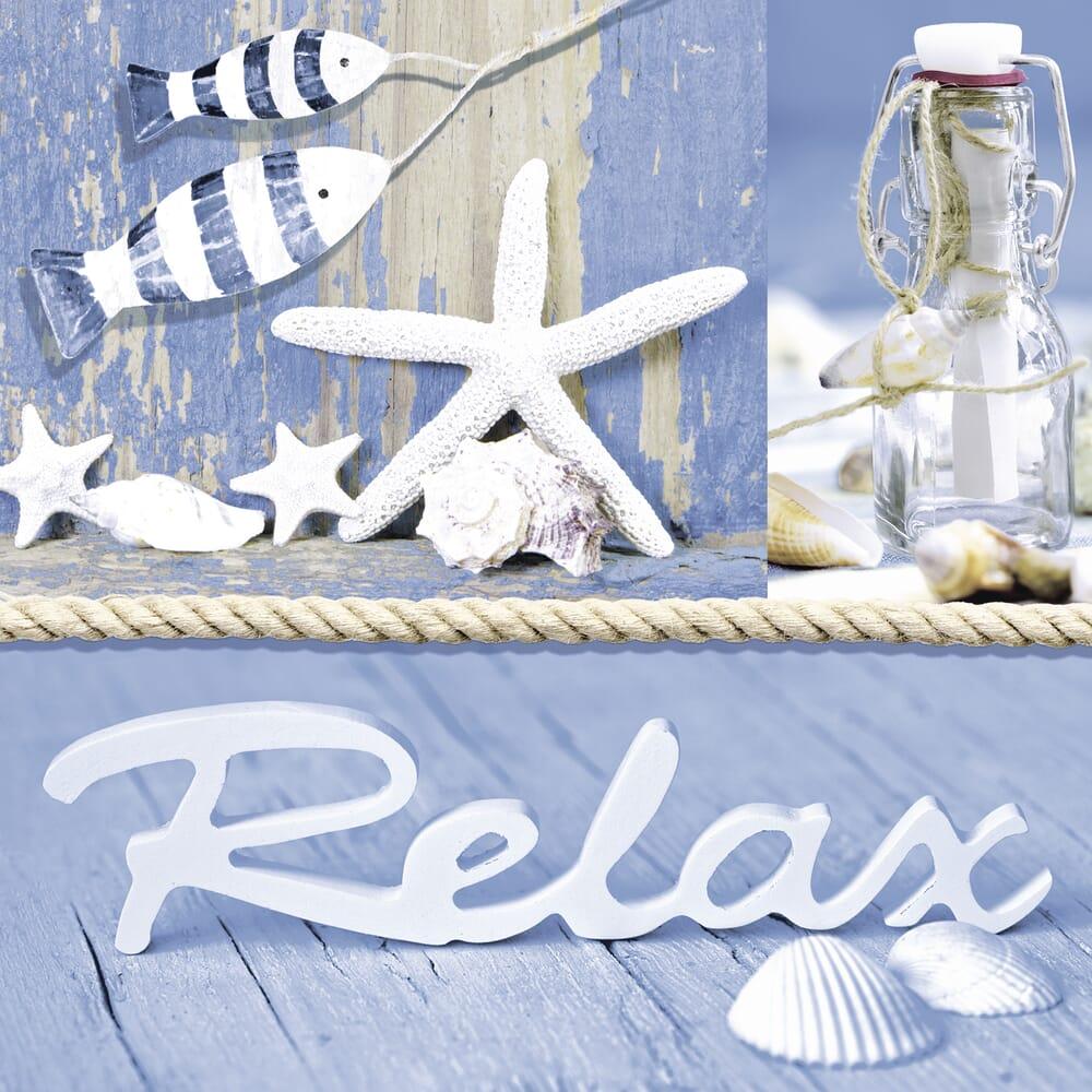 serviett 33x33 cm relax maritime 20 stk hobbykunst norge. Black Bedroom Furniture Sets. Home Design Ideas